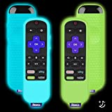 2 Pack Silicone Protective Cases Compatible with TCL Roku TV Steaming Stick 3600R Remote Control, Lightweight Shockproof TV R