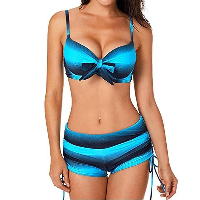 Logobeing Bikinis Mujer 2018, Conjunto Deportivo Tankini de Deporte Floral para Mujer Bikini Traje de Baño de Dos Piezas: Amazon.es: Ropa y accesorios