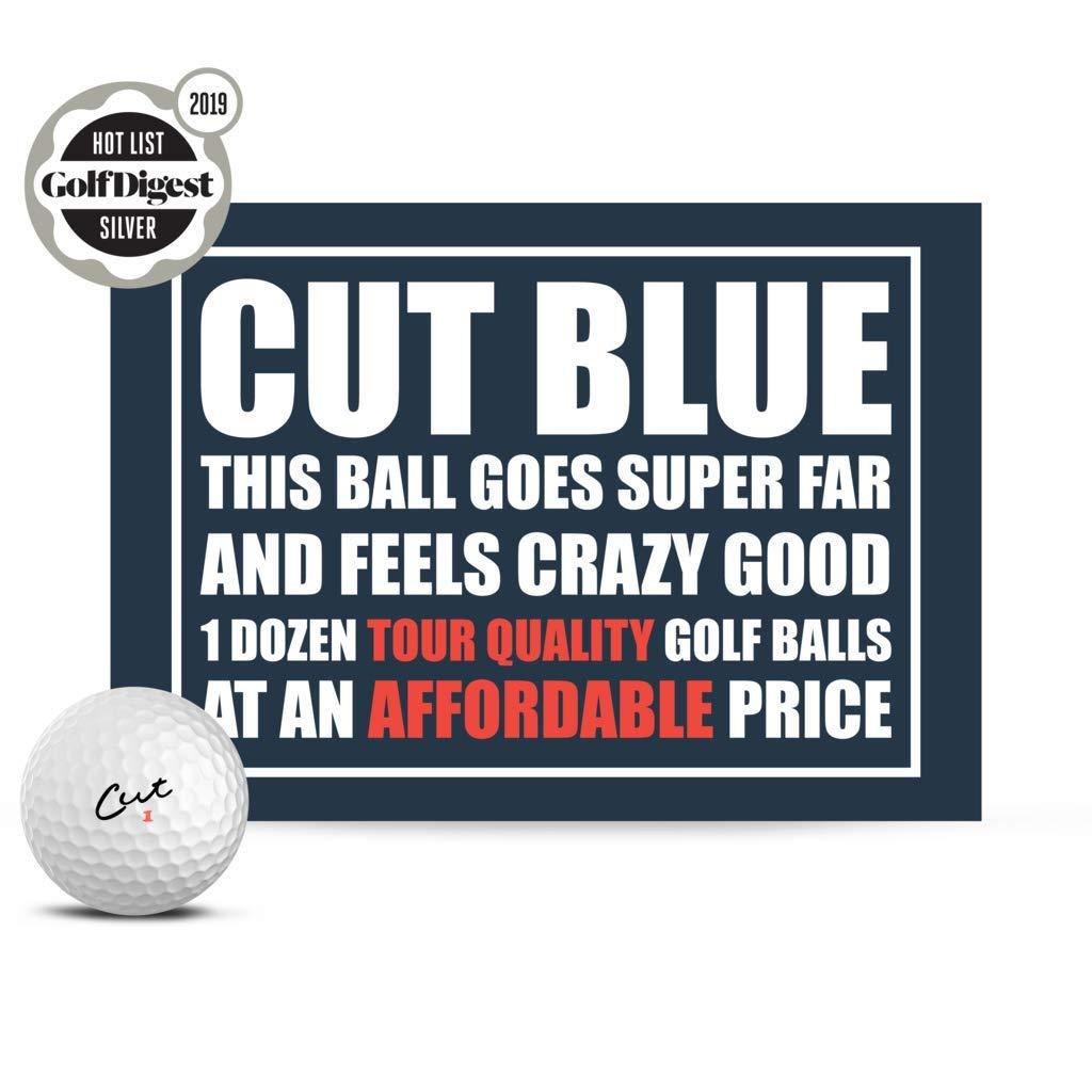 Cut Blue Golf Balls, 4 Piece Urethane (One Dozen) by Cut Golf