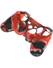 Haut Kasten Silikon Schutzhülle für PS2 PS3 Controller Schwarz und Rot