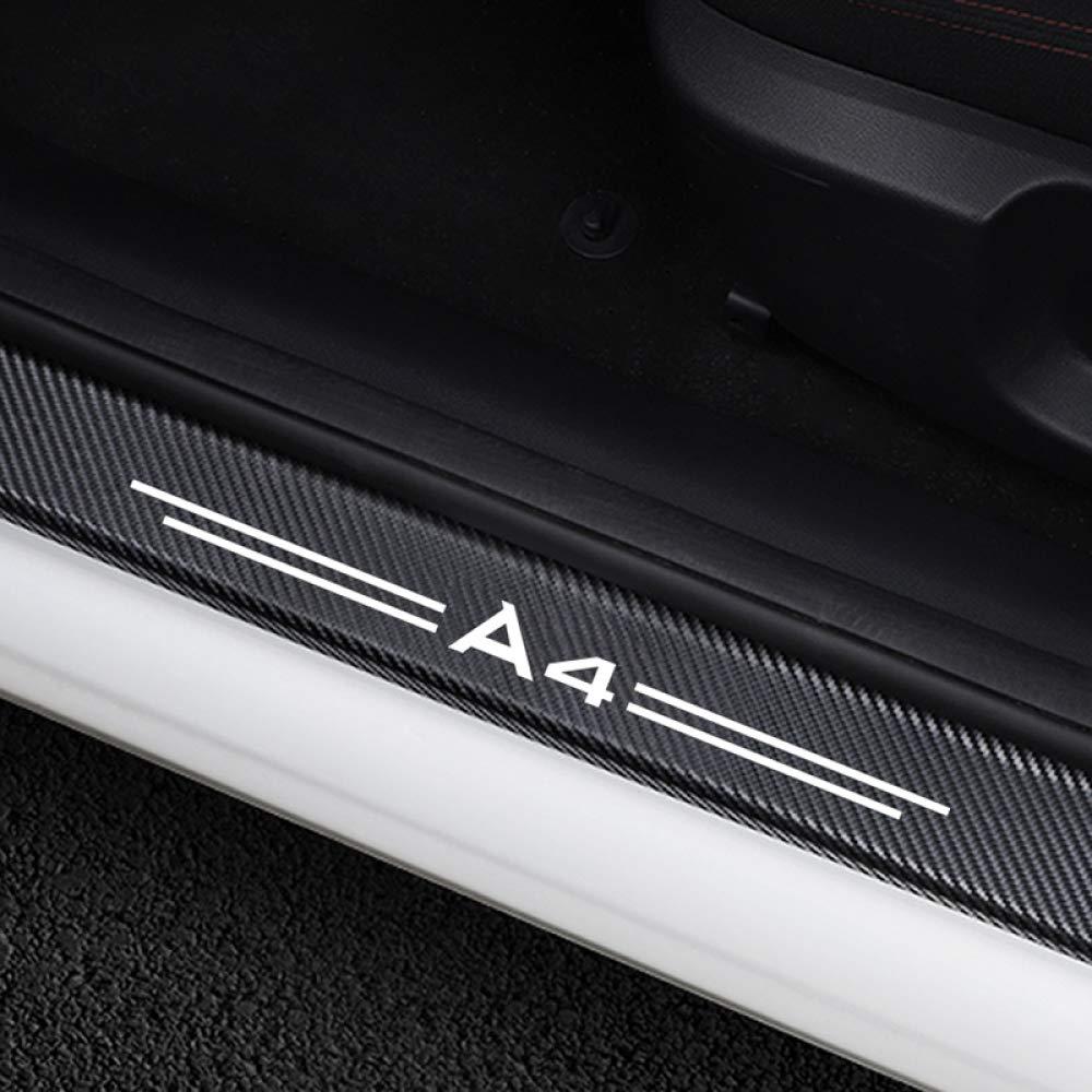 F/ür Audi A4 B5 B6 B7 B8 B9 MATBC 4 St/ücke Auto Einstiegsleisten Aufkleber Kohlefaser Vinyl Aufkleber Auto T/ürschwellenabdeckung Zubeh/ör