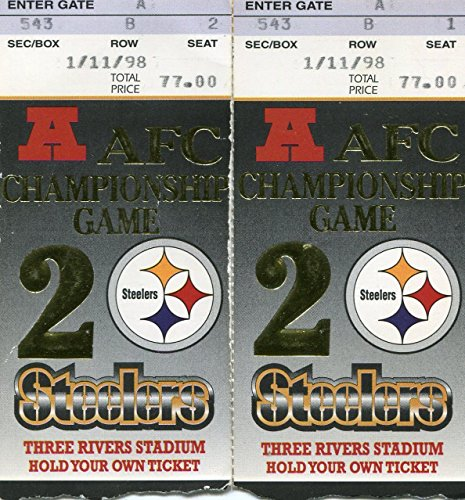 Pittsburgh Steelers AFC Championship Game Jan 11th 1998 2 Ticket ()