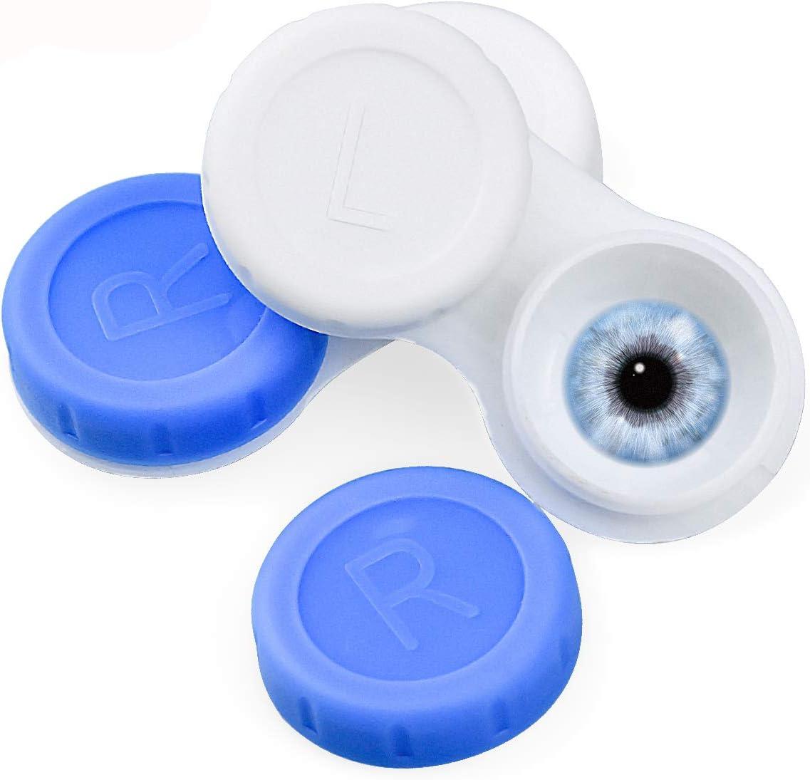 FEIGO Estuche para Lentes de Contacto Caja de Lentes de Contacto de Viaje 20 Piezas (Colores Surtidos): Amazon.es: Salud y cuidado personal