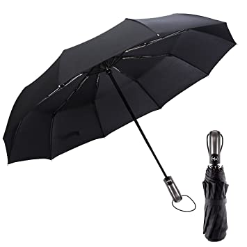 b31625754265 Umbrella - Compact Travel Umbrella Windproof Automatic 10 Ribs Unbreakable  Large Canopy Foldable Business Rain Umbrella for Men Women