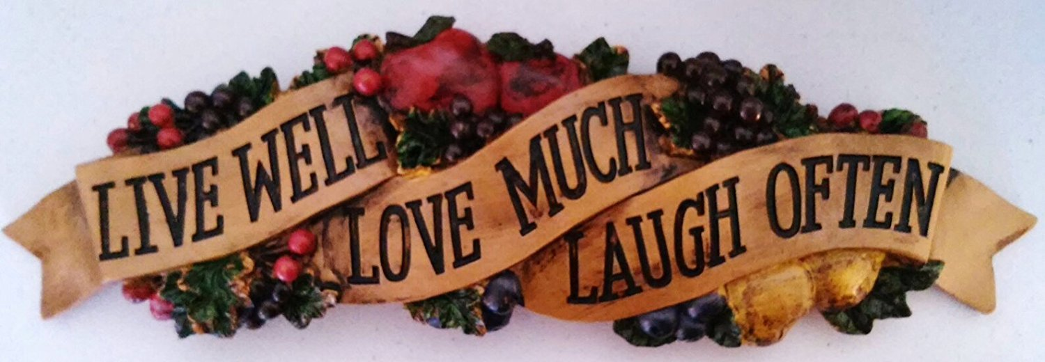 "Fruit "" Live Well Love Much Laugh Often "" Wall art Plaque"