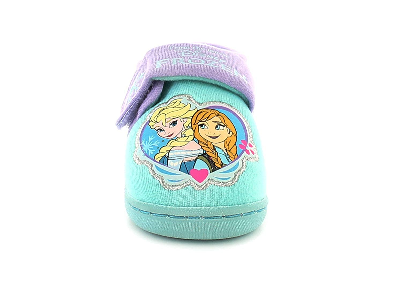 Frozen Flake Girls Synthetic Material Novelty Slippers Light Blue Multi