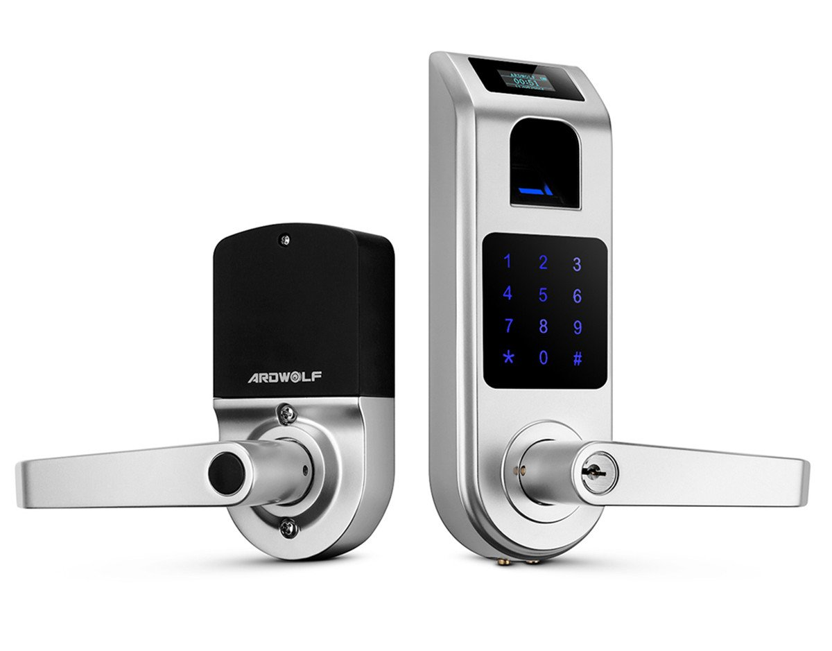 Ardwolf A10 Fingerprint Touchscreen Keyless Door Lock with Visual Menu Display