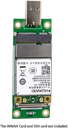 CY mini PCI-E inalámbrica WWAN de tarjeta adaptadora USB con ranura para tarjeta SIM Módulo de pruebas herramientas