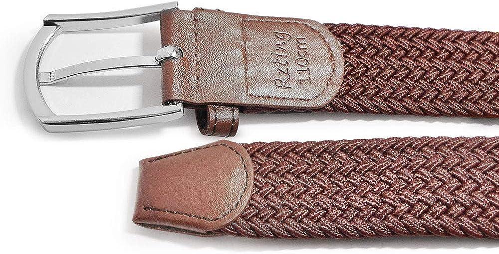 per jeans e pantaloni elastica in tessuto intrecciato e con fibbia coperta in pelle Rzting Cintura da Uomo