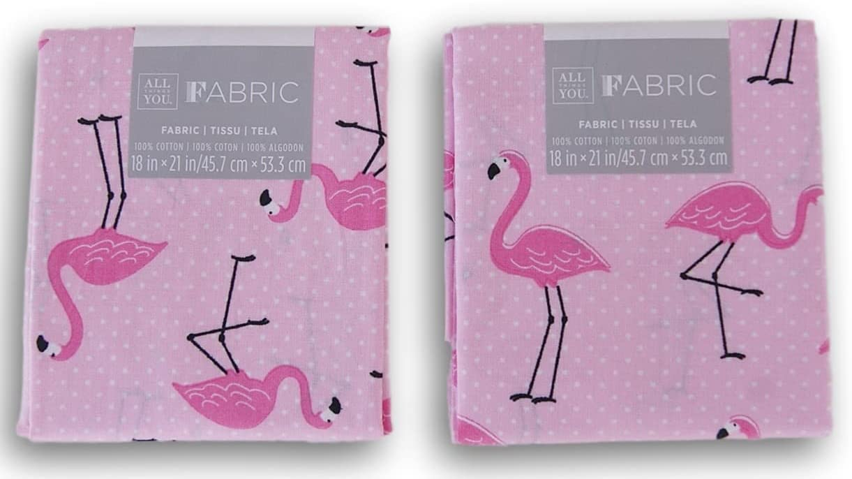 Fat Quarter Urban Zoologie Flamingos On White 100/% Cotton Quilting Fabric