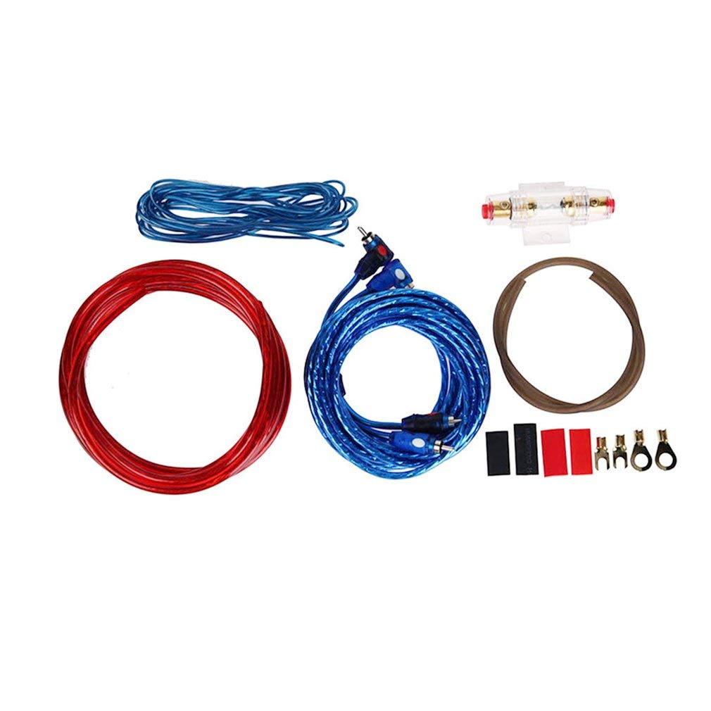 1 Set Car Audio Connected 8 Gauge Amp Wire Wiring Amplifier Subwoofer Speaker Kit di installazione Cavo di alimentazione Portafusibile