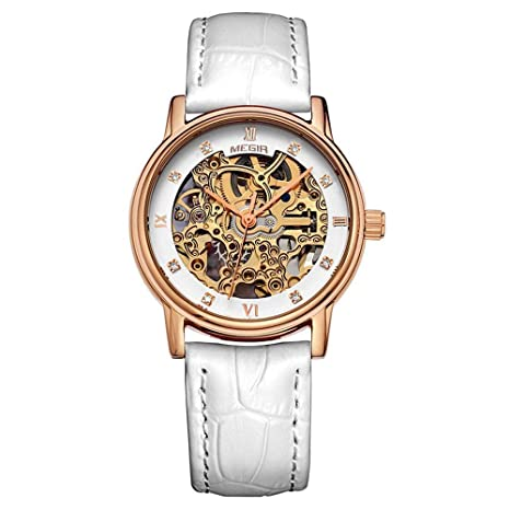 North King Relojes Fecha Pantalla señoras Reloj de Cuarzo Totalmente automático mecánico Reloj Relojes Bonitos para