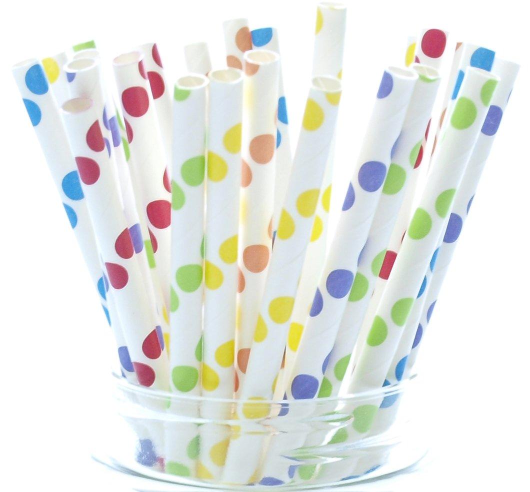 Amazon.com : Circus Party Straws, Carnival Theme (25 Pack) - Rainbow ...