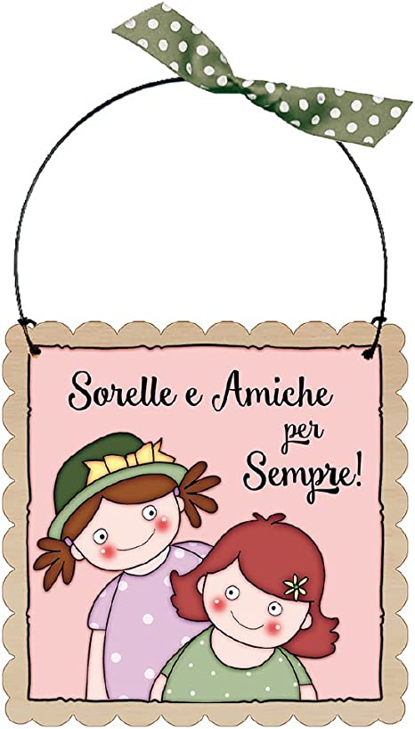 Idea Regalo per Un Amico Speciale Dorothy Spring La Migliore Amica /è Una Stella nelle Notti pi/ù Buie Targa in Legno da Appendere a Forma di Cuore