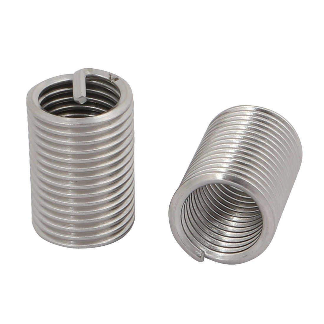 Sourcingmap 10Pcs M14 Inner Thread 35mm Installed Length Stainless Steel Helical Coil Insert