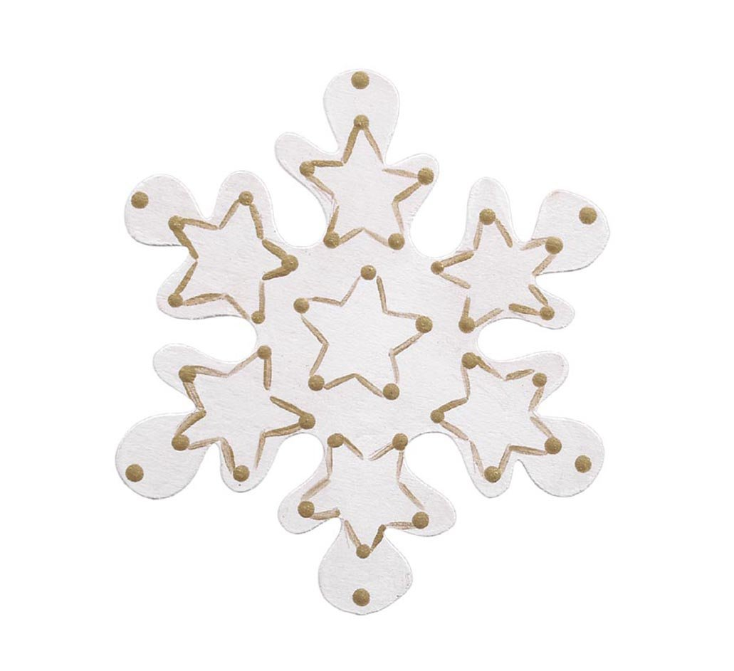 amazon com darice unfinished wood snowflake cutout 4 inch arts