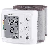 Blutdruckmessgerät Handgelenk Hylogy Vollautomatische professionelle Blutdruk-und Pulsmessung 2 * 120 Speicherplätze, LCD großem Display und Tagbare Aufbewahrungsbox