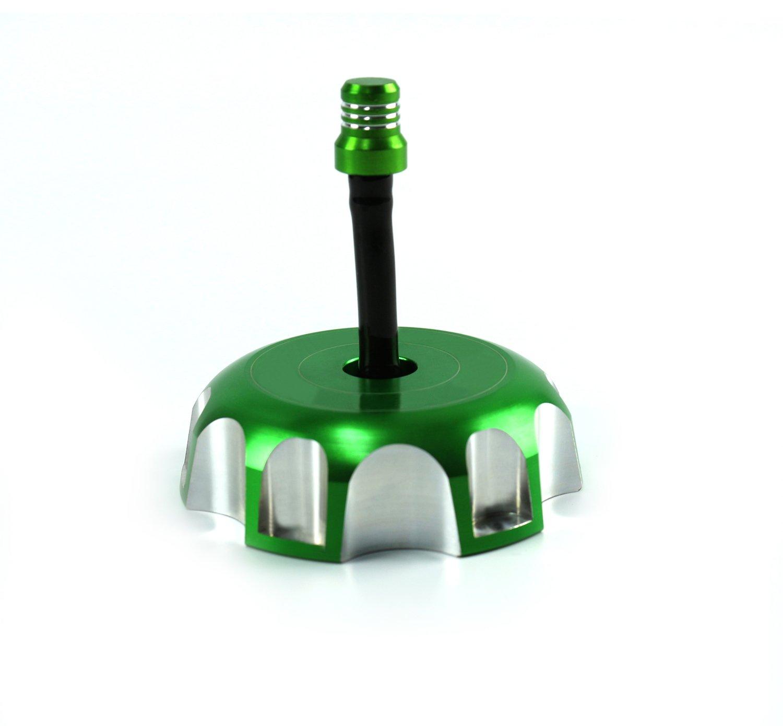 CNC Tapa para depó sito de combustible de gasolina para Kawasaki KX450F KX250F KX250 KLX450R KFX450R Verde YGMOTO