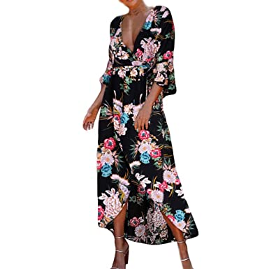 71ae7aba938 Amazon.com  Aurorax 2018 Plus Size Women Dresses