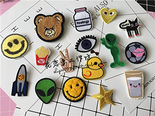 Price comparison product image Korean custom embroidered cloth alien smiley little yellow d footballty brooch pin brooch badge jewelry