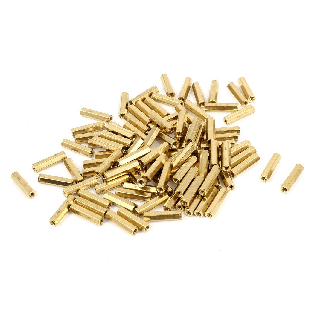100 pezzi M2 femmina a colonna distanziatori per distanziatore esagonale 12 mm lunghezza sourcing map a14081400ux0122