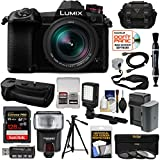 Panasonic Lumix DC-G9 4K Wi-Fi Digital Camera & 12-60mm f/2.8-4.0 Lens & DMW-BGG9 Grip + 128GB Card + Battery/Charger + Case + Flash + LED Light + Tripod Kit