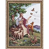 Design Works Jesus with Animals Counted Cross-Stitch Kit