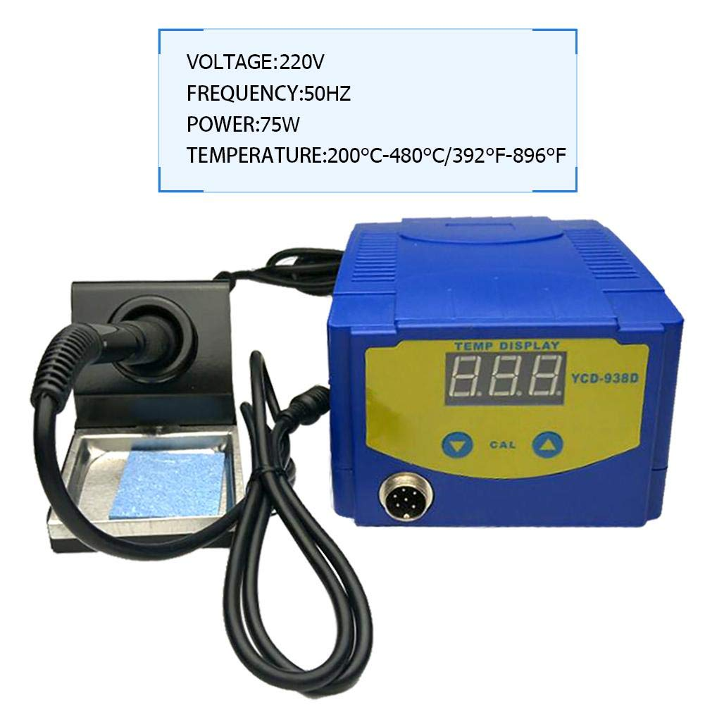 UNIhappy New 938D 75W Digital Display Soldering Iron Station Timer Dormancy Welding Tool by UNIhappy (Image #3)