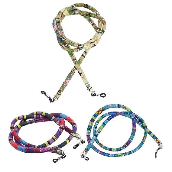 Homyl 2 Piezas Correa de Algodón Estilo Étnico Cordón para Gafas Lentes Wjw01aHCq