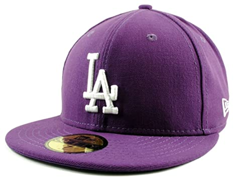 New Era 59Fifty Hat Los Angeles Dodgers Purple Fitted Baseball MLB Cap (6 7  b645c2a9420