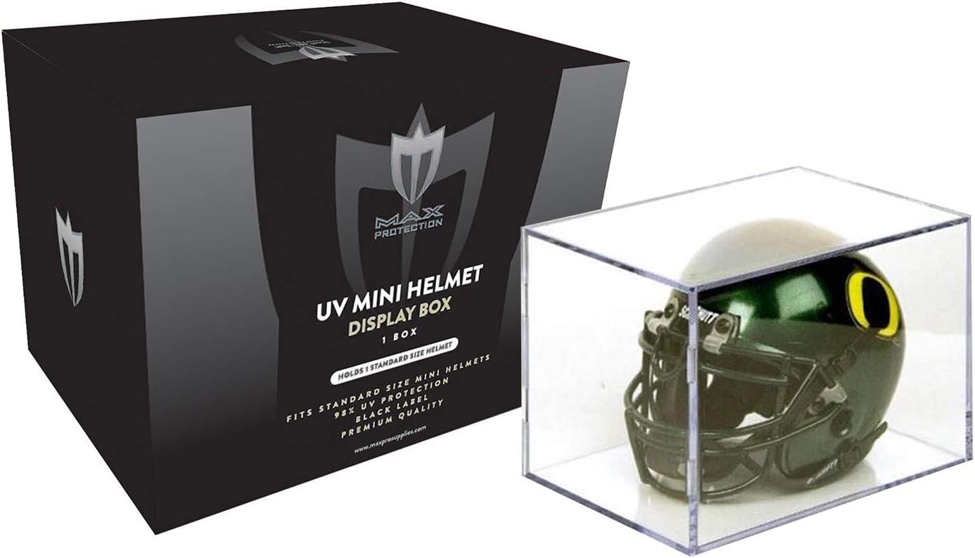 6 Ultra Pro Football Baseball Mini Helmet Holder Cube protect Display Box