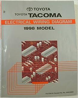 1998 toyota tacoma electrical wiring diagram manual: toyota motor corp :  amazon com: books