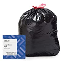 Deals on 50-CT Amazon Brand Solimo Multipurpose Drawstring Bags 30 Gallon