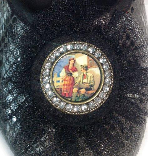 Schwarz PantoffelDIVA Caña negro Schwarz de baja cuero mujer q4rq0HP