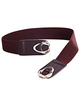 "Beltox Womens Belts Elastic Stretch Cinch Plus Fashion Dress Belts for ladies(46""-58"",Coffee)"