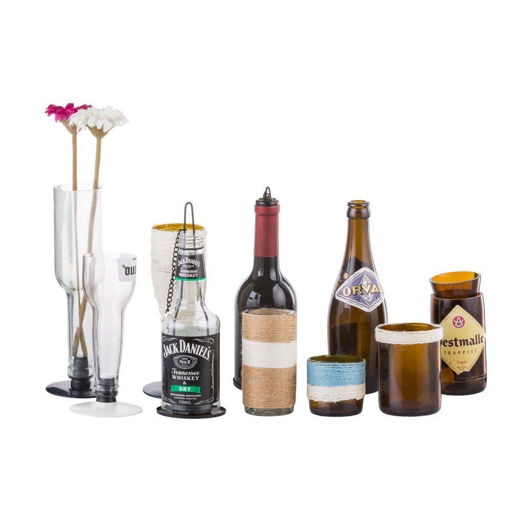 Kit de herramientas para cortar botellas de vino, para vidrieras, para manualidades de cristal, con gafas y guantes protectores: Amazon.es: Hogar