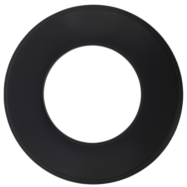 Wandrosette für Pelletofen in der Farbe Schwarz, Ø 80 mm zur Abdeckung des Kaminanschlusses BAUPROFI