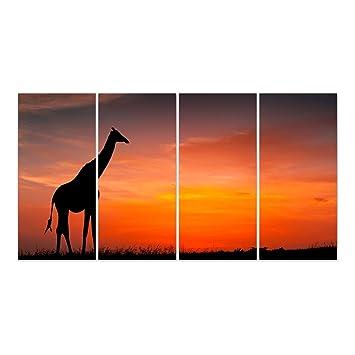 Dekoglas Glasbild Giraffe Acrylglas Bild Kuche Wandbild Flur