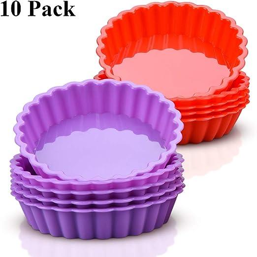 Amazon.com: Moldes de silicona para mini quiche de 4.0 in ...