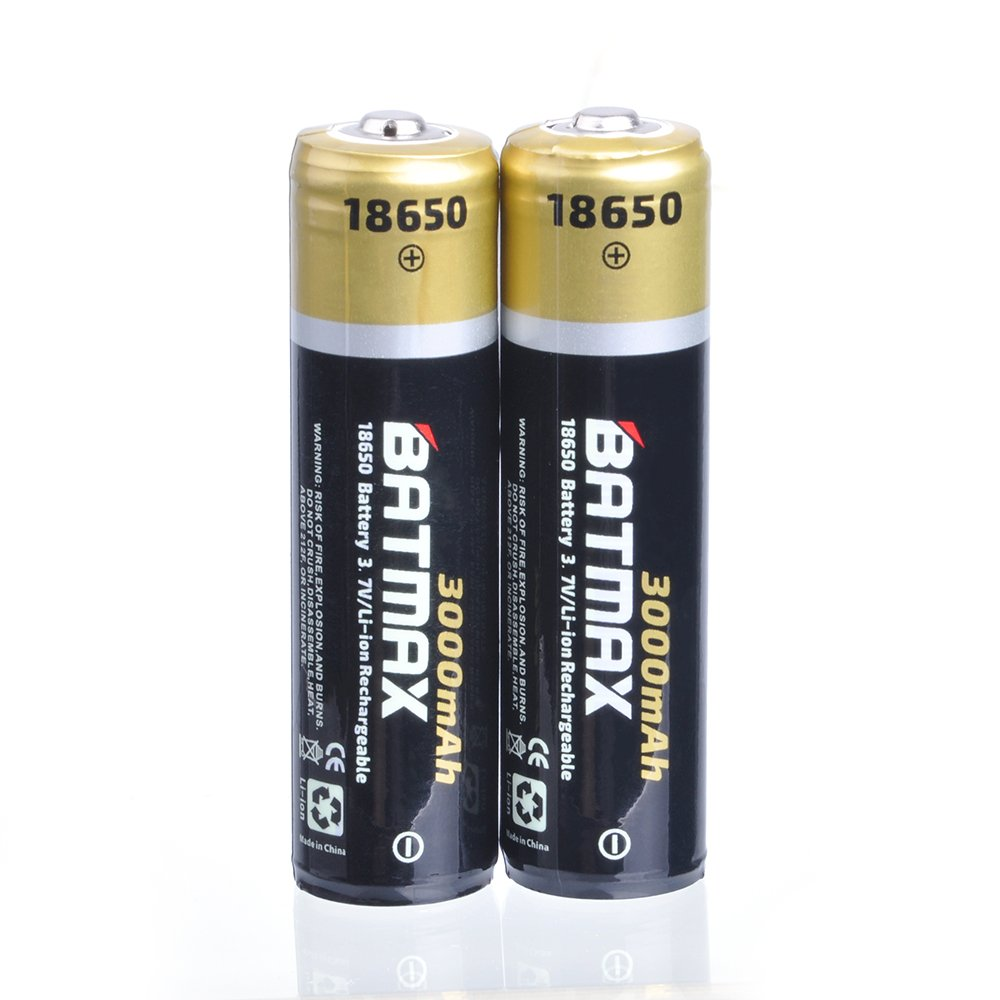 Batmax 2pcs 37v 3000mah Protected 18650 Lithium Protection Circuit For Led Torch Sanyo Battery Cell Rechargeable Batteries Flashlight Fansand More Home Audio Theater