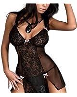Camicia da notte della camicia da notte della Chemise Nightwear della biancheria intima della biancheria intima della maglia trasparente sexy del fodero delle donne