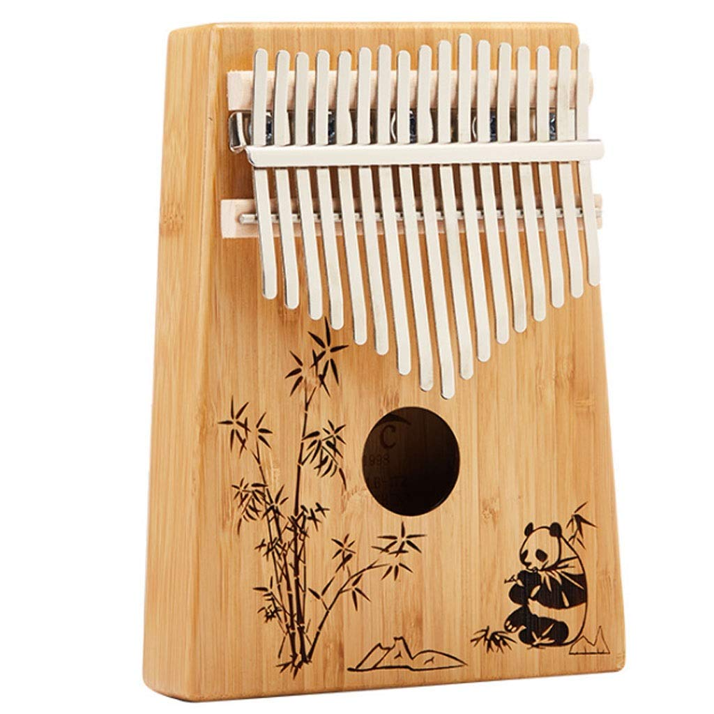 Thumb Piano Carinba 17 Tone Finger Piano 17 Keys Thumb Piano Learning Instructions Portable Wooden Finger Piano Marimbas by ZJY