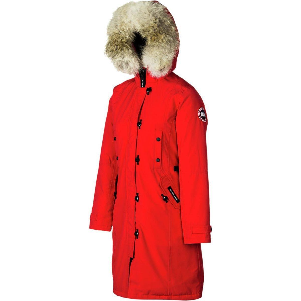 (カナダグース)Canada Goose Kensington Down Parka レディース ジャケット赤 [並行輸入品] 赤 日本サイズ S相当 (US XS)