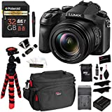 Panasonic LUMIX DMC-FZ2500 Digital Camera 4K Video, Polaroid 32GB High Speed SD Card U3, Battery, Charger, Ritz Gear Tripod, Cleaning Kit and Accessory Bundle