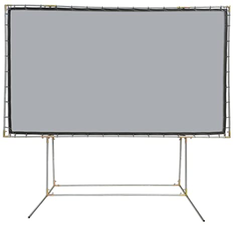 Carl S Flexigray Standing Projector Screen Kit 16 9 9x16 Ft 214 In Outdoor Projection Screen Hd Low Ambient Light High Contrast Gray Grey