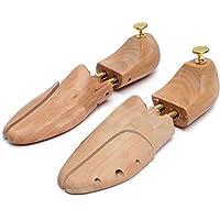 OZSTOCK® Adjustable Men Women Cedar Wooden Shoe Tree Shaper Keeper Wood Stretcher (UK 5-6 / EU 37-38)