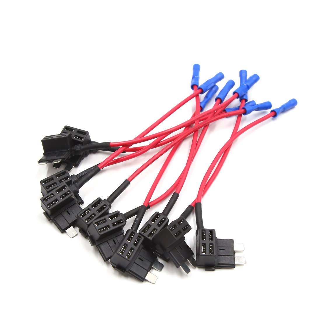 uxcell 10Pcs 16AWG Add A Circuit Standard ATC ATO Regular Blade Style Fuse Holder Tap