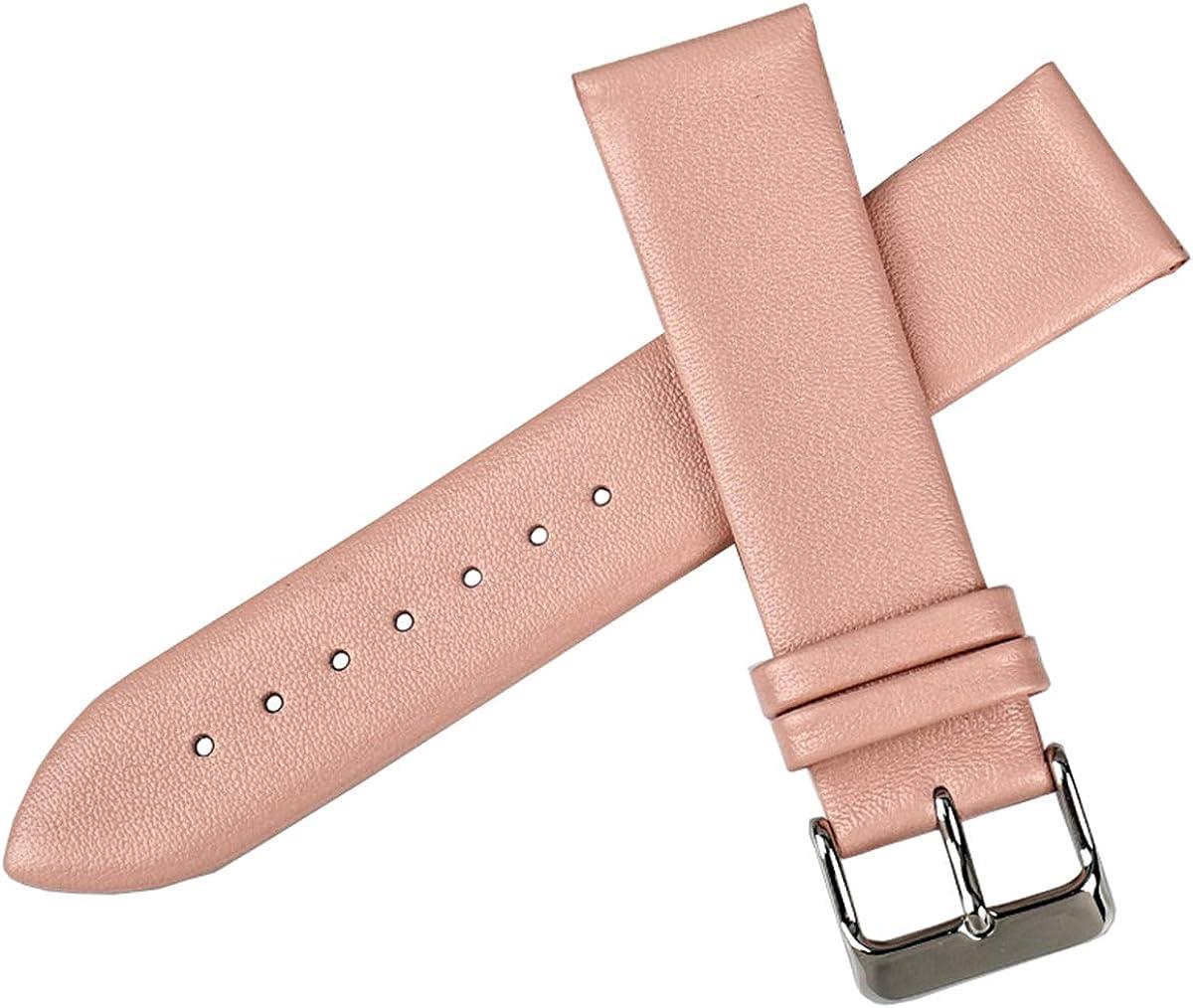 12mm-24mm Bracelets de Montres Femmes Accessoires de Montre Bracelet de Montre en Cuir à Armure Toile Dark Brown