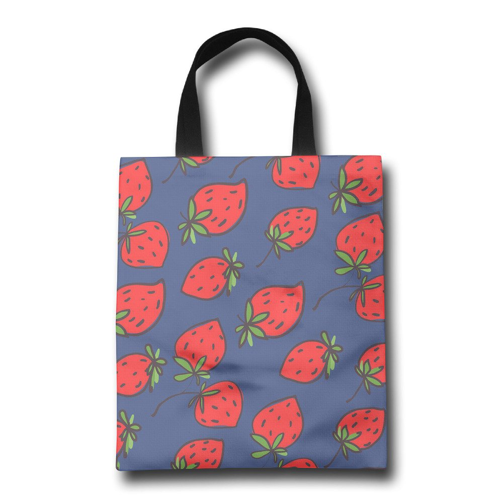 homlife Strawberryパターン再利用可能なバッグ耐久性折りたたみ式トートバッグfor旅行、ショッピング、ノートパソコン、学校Books   B075JCPP4W