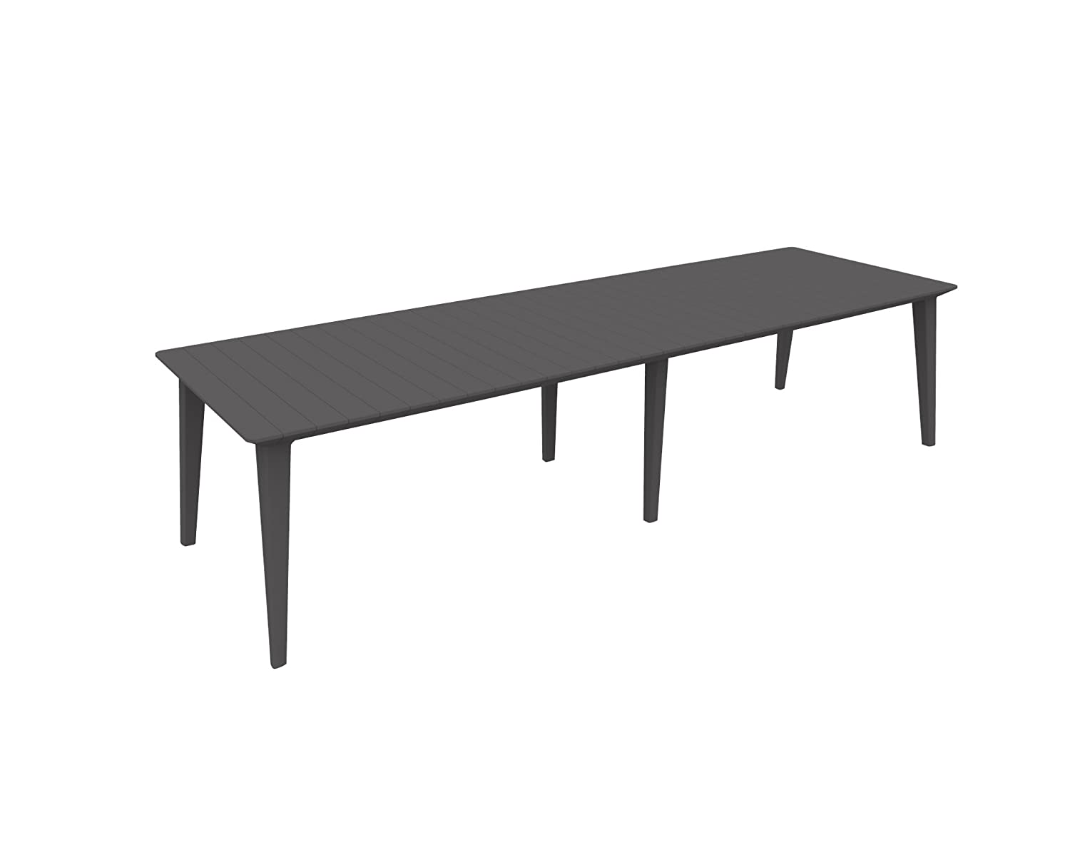 Allibert by Keter 157 x 98 x 74 cm Lima Outdoor Garden Furniture 6 seater Dining Table - Graphite 226499